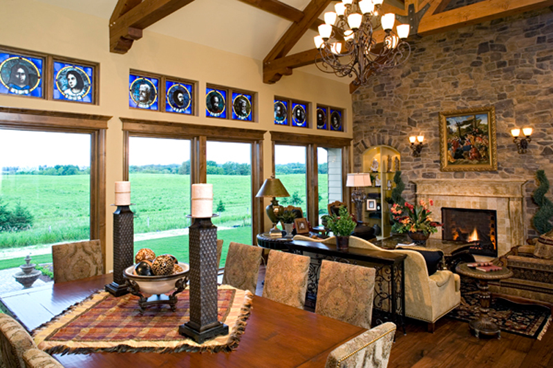 Luxury House Plan Great Room Photo 02 - Shenandoah Heights Luxury Home 091S-0001 | House Plans and More