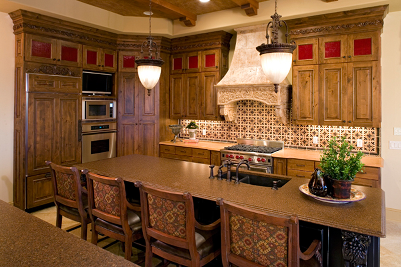 Luxury House Plan Kitchen Photo 02 - Shenandoah Heights Luxury Home 091S-0001 | House Plans and More