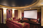 Luxury House Plan Media Room Photo 01 - Shenandoah Heights Luxury Home 091S-0001 | House Plans and More