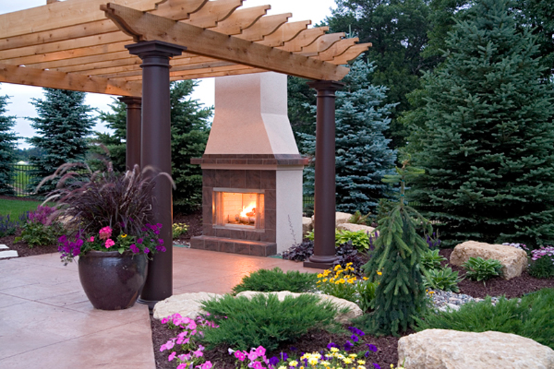 Luxury House Plan Outdoor Living Photo 01 - Shenandoah Heights Luxury Home 091S-0001 | House Plans and More