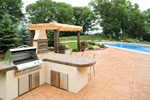 Luxury House Plan Patio Photo - Shenandoah Heights Luxury Home 091S-0001 | House Plans and More