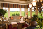Luxury House Plan Sunroom Photo - Shenandoah Heights Luxury Home 091S-0001 | House Plans and More