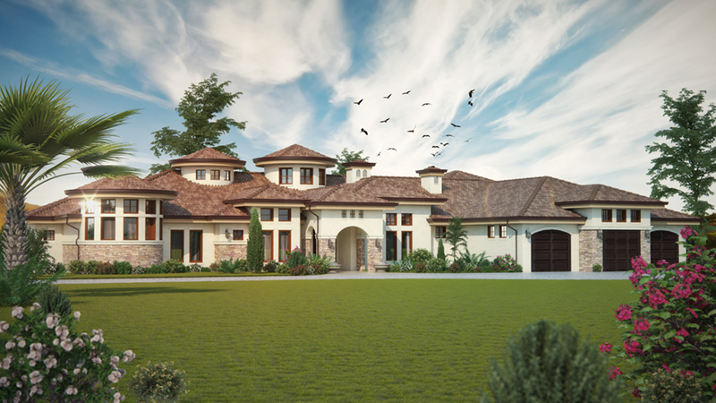 Santa Fe House Plan Front of Home - Paradise Beach Luxury Home 101D-0048 | House Plans and More