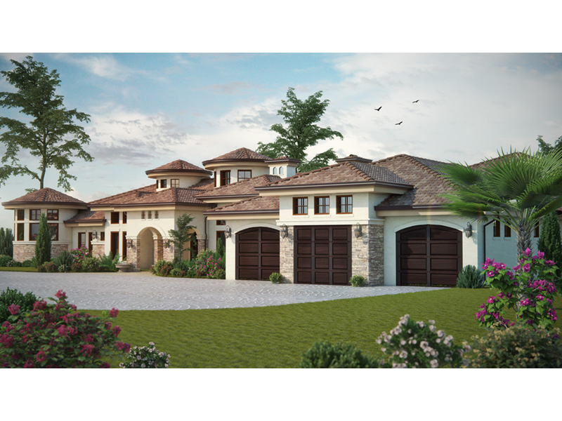 Santa Fe House Plan Front Photo 01 - Paradise Beach Luxury Home 101D-0048 | House Plans and More