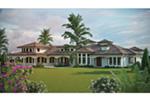 Santa Fe House Plan Rear Photo 01 - Paradise Beach Luxury Home 101D-0048 | House Plans and More