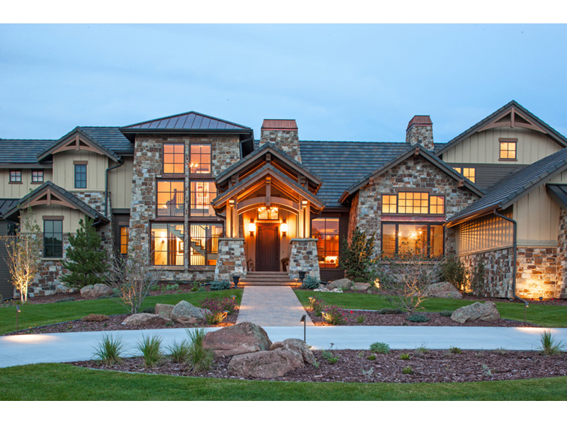 Luxury House Plan Front Photo 01 - Paxton Peak Luxury Home 101D-0051 | House Plans and More