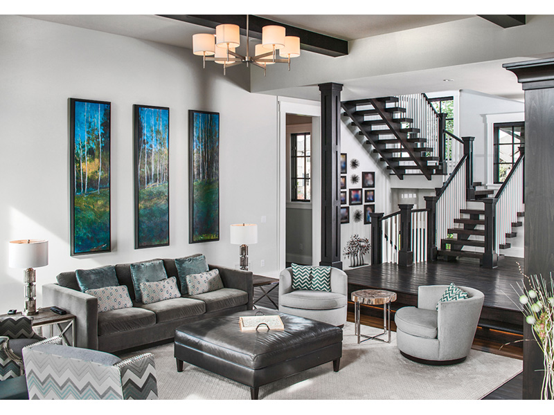 Vacation House Plan Living Room Photo 02 - Kingdel Creek Luxury Home 101D-0061 | House Plans and More