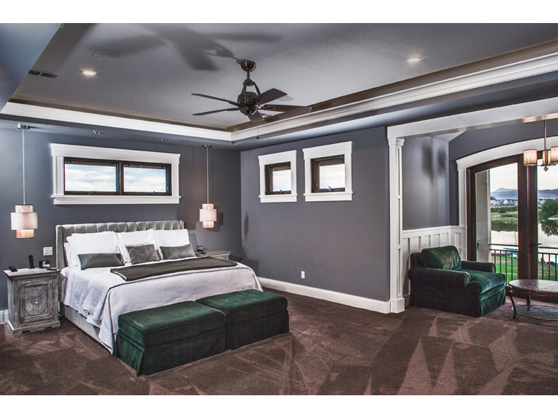 Vacation House Plan Master Bedroom Photo 01 - Kingdel Creek Luxury Home 101D-0061 | House Plans and More