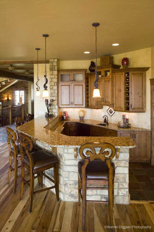 Rustic Home Plan Bar Photo - Kemper Hill Mountain Home 101S-0003 | House Plans and More