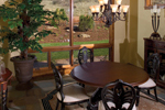 Mountain Home Plan Dining Room Photo 01 - Colima Manor Mountain Home 101S-0005 | House Plans and More