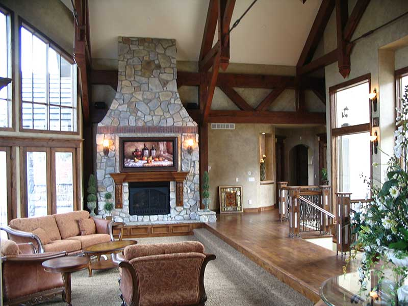 Mountain Home Plan Family Room Photo 01 - Colima Manor Mountain Home 101S-0005 | House Plans and More