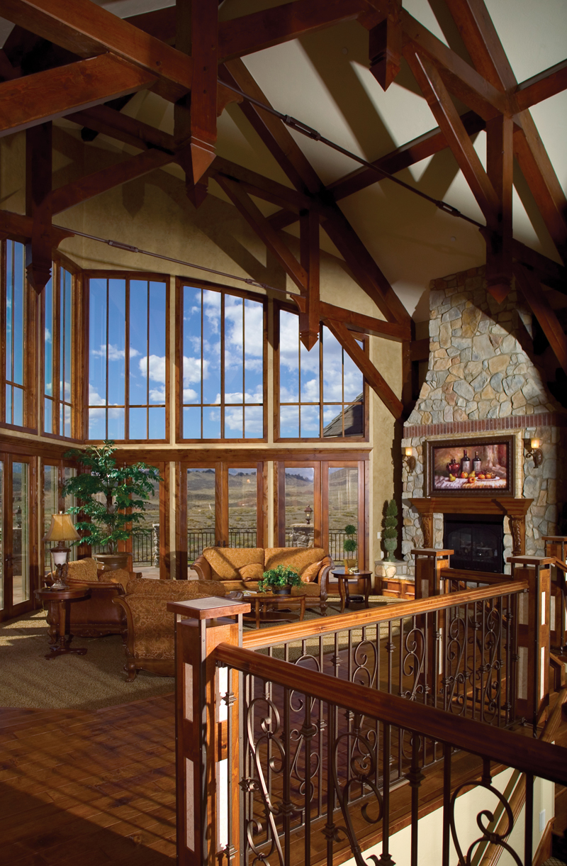 Mountain Home Plan Great Room Photo 01 - Colima Manor Mountain Home 101S-0005 | House Plans and More
