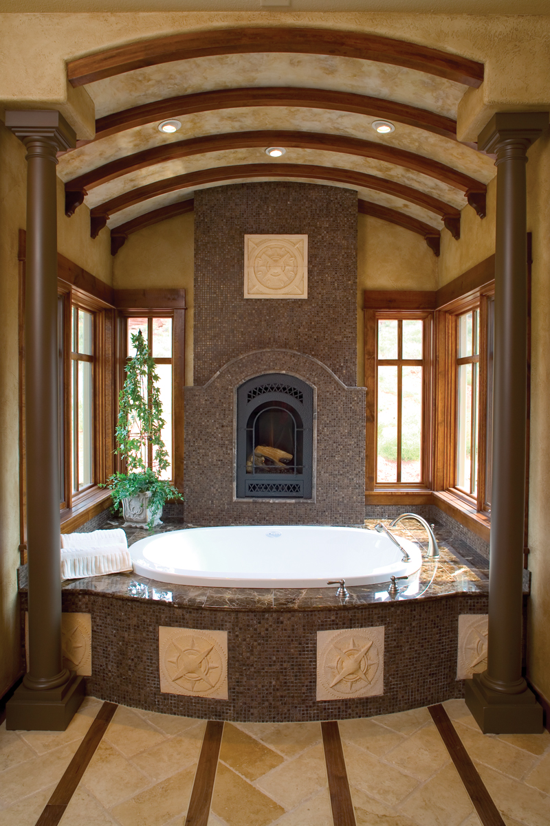 Mountain Home Plan Master Bathroom Photo 01 - Colima Manor Mountain Home 101S-0005 | House Plans and More