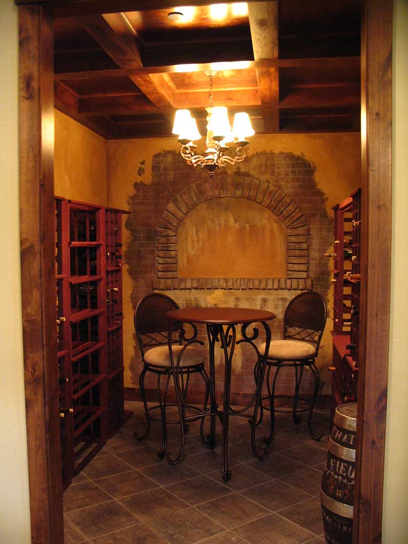 Mountain Home Plan Wine Cellar Photo - Colima Manor Mountain Home 101S-0005 | House Plans and More
