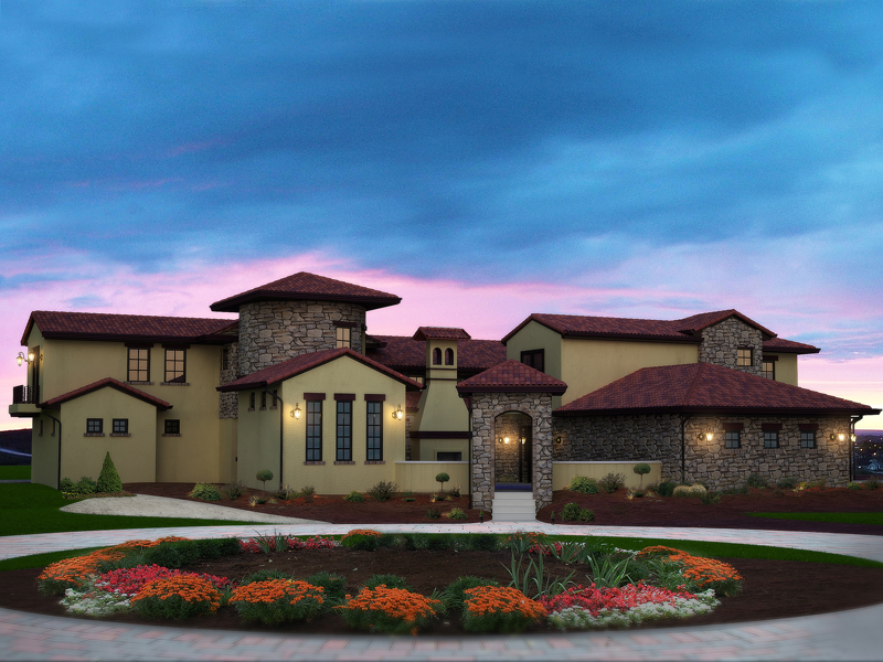 Berenzy Luxury Santa Fe Home Plan 101s 0014 House Plans And More