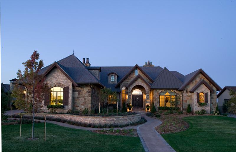 Brick And Stone Home Plan Stone Exterior Home