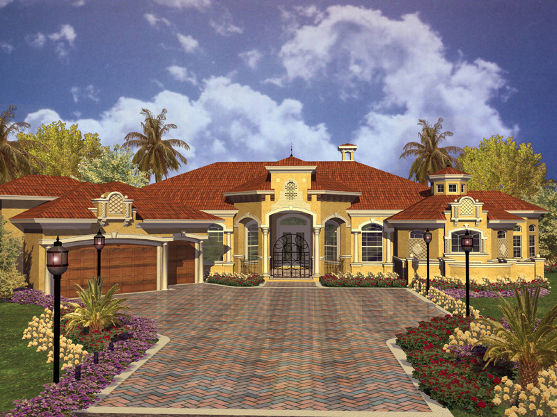Key West House Plans | Key West Spanish Style Home Plan 106s 0012 House Plans And