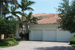 Floridian Style Stucco Home With Clay Tile Roof