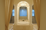 Santa Fe House Plan Master Bathroom Photo 01 - 6-Bedroom Luxury House Plans | 6-Bedroom Home Plans