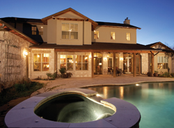 luxury home with stunning hot tub