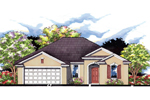 Traditional House Plan Front of House 116D-0001