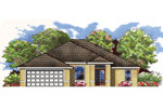 Ranch House Plan Front of House 116D-0002