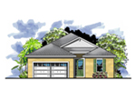 Bungalow House Plan Front of House 116D-0029
