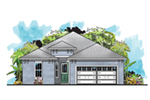 Ranch House Plan Front of House 116D-0030