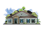 Bungalow House Plan Front of House 116D-0033