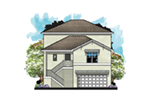 Florida House Plan Front of House 116D-0034