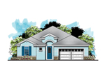 Ranch House Plan Front of House 116D-0035