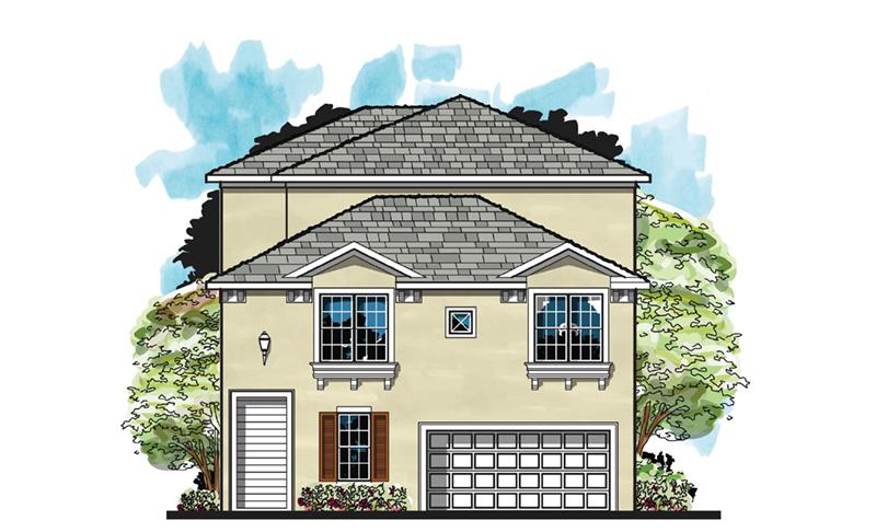 Beach & Coastal House Plan Front of Home - Monita Mediterranean Home 116D-0036 | House Plans and More