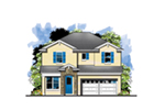 Florida House Plan Front of House 116D-0037
