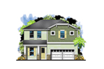 Florida House Plan Front of House 116D-0038