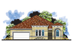 Luxury House Plan Front of House 116D-0040