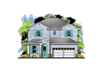 Traditional House Plan Front of House 116D-0041