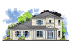 Craftsman House Plan Front of Home - Perla Florida Sunbelt Home 116D-0042 | House Plans and More