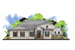 Florida House Plan Front of House 116D-0043