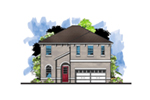 Mediterranean House Plan Front of House 116D-0044