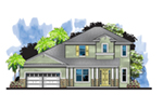 Florida House Plan Front of House 116D-0046