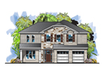 Florida House Plan Front of House 116D-0049