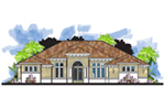Florida House Plan Front of House 116D-0050