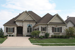 Country French House Plan Front of House 119D-0007