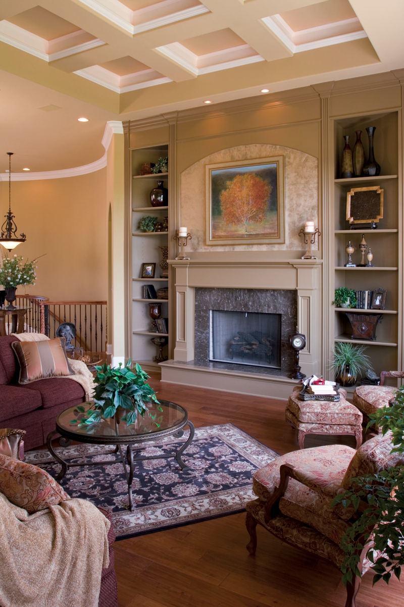 Country French House Plan Great Room Photo 01 - Flora Park Country French Home 119D-0007 | House Plans and More