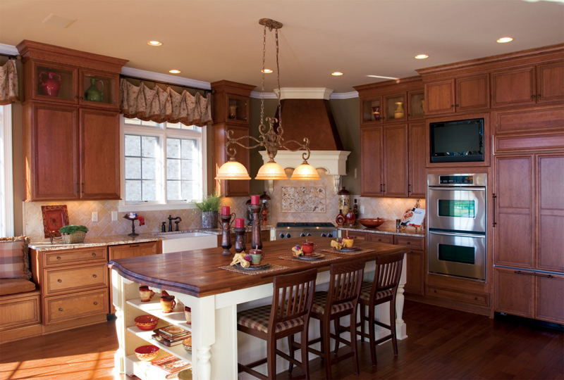 Country French House Plan Kitchen Photo 01 - Flora Park Country French Home 119D-0007 | House Plans and More