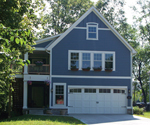 Colonial House Plan Front of House 119D-0008