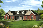Colonial House Plan Front of House 121D-0002