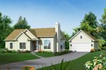 Cape Cod & New England House Plan Front of House 121D-0007