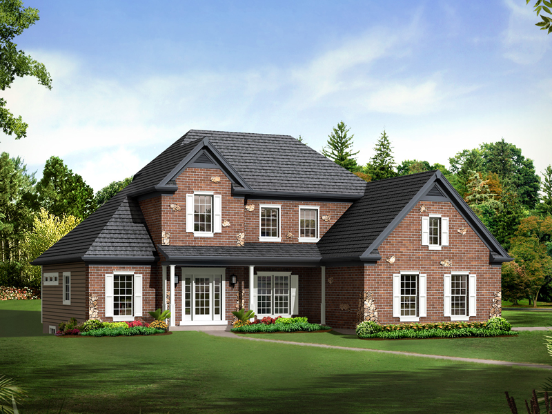 Country House Plan Front of Home - Alyson Traditional Home 121D-0009   House Plans and More