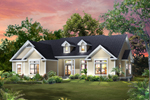 Waterfront House Plan Front of House 121D-0011